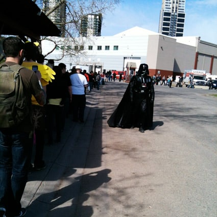 Darth Vader himself hired to guard the line
