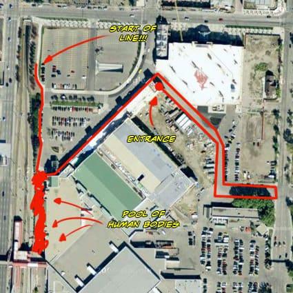 Calgary Expo line map